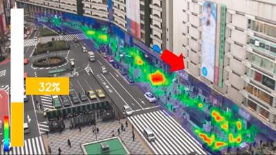 群衆行動解析システムの画面サンプル